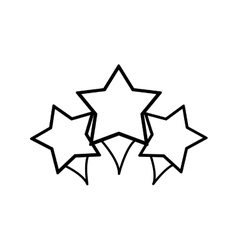 stars decoration geometric sign vector image