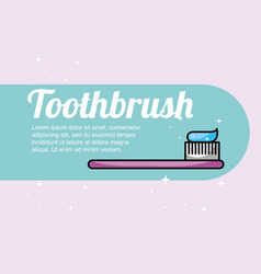 Toothbrush dental care banner vector