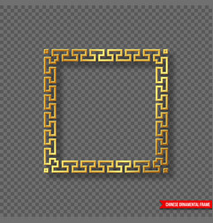 Traditional chinese decorative golden frame with vector