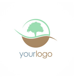 Tree nature logo vector