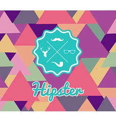 Trendy retro Hipsters label icons seamless pattern vector image