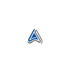 triangle wave gs logo design vector image