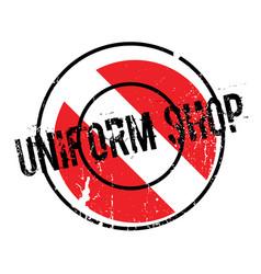 Uniform shop rubber stamp vector