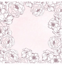 vintage delicate frame with flowers vector image
