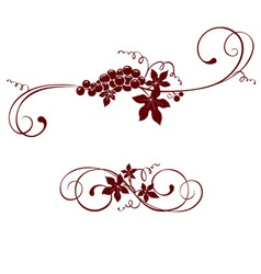 Vintage design element - grape vector