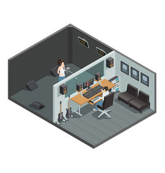 Vocal recording isometric composition vector