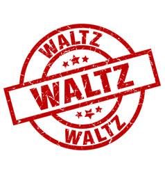Waltz round red grunge stamp vector