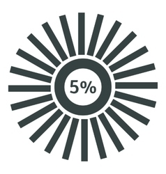 Web preloader 5 percent icon flat style vector