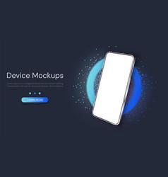 web template digital device mockup vector image