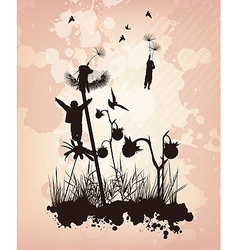 Dandelion Children Concept Background vector image