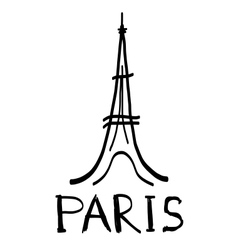Eiffel Tower icon in sketch style vector image