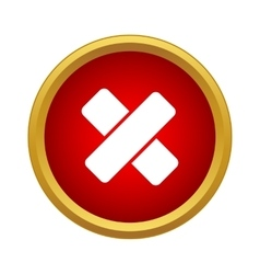 First aid medical plaster icon simple style vector image