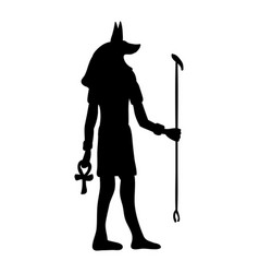 god anubis egypt egyptian silhouette ancient egypt vector image vector image
