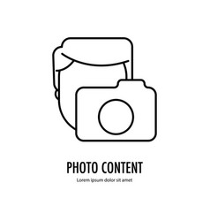 photo content icon vector image vector image
