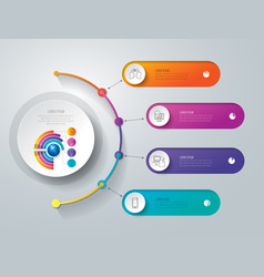 timeline infographics design with 4 options vector image vector image