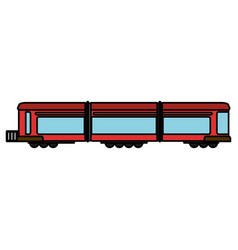 train wagon rail transport vector image