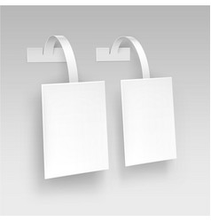 blank white paper plastic price wobbler vector image vector image