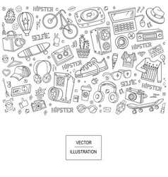 collage elements vector image