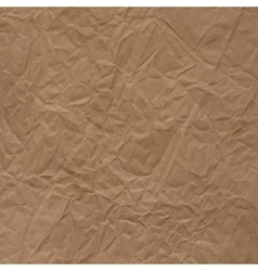 Crumpled packaging paper texture vector