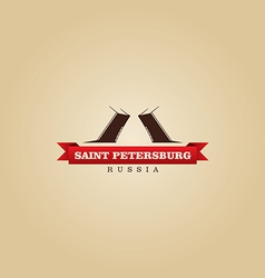 Saint petersburg russia city symbol vector