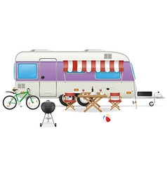 trailer caravan 04 vector image