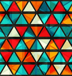 Vintage bright triangle seamless pattern with vector