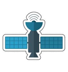 cartoon satellite antenna communication wireless vector image