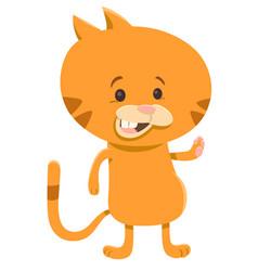 cat cartoon character vector image