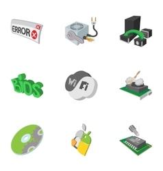 Computer repair icons set cartoon style vector image vector image