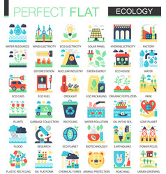 ecology and green energy complex flat icon vector image vector image