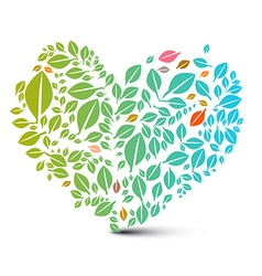 Heart Shaped Leaves - Abstract Nature Ecology vector image vector image