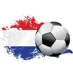 Netherlands Soccer Grunge vector image vector image