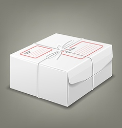 Parcel boxes white box design background vector image