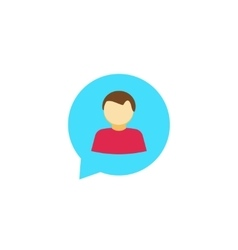 Person chat icon isolated talking symbol vector image vector image