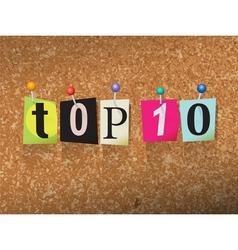 Top 10 Concept vector image vector image