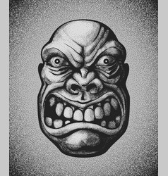 villain angry man face vector image vector image