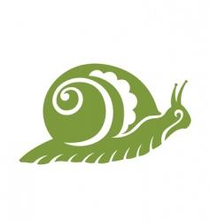 vintage snail vector image vector image