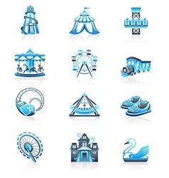 Attraction icons - MARINE series vector image vector image