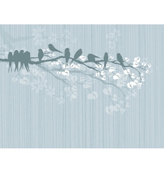 birds on a branch vector image vector image