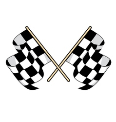 Checkered flags icon for motorsports design vector image