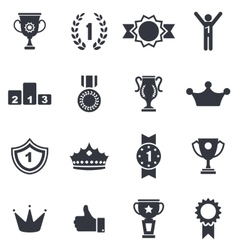 Collection Colorful Awards Icons Isolated on White vector image vector image