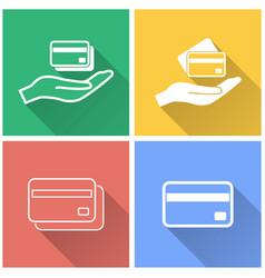 Credit card - icon vector