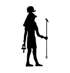 God ra horus egypt egyptian silhouette ancient vector