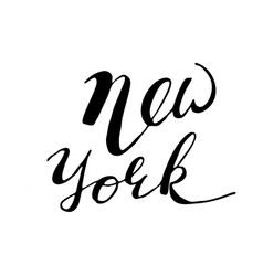 hand drawn typography lettering phrase new york vector image vector image
