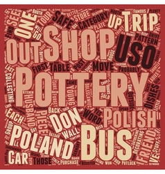 Polish pottery text background wordcloud concept vector