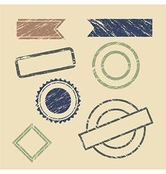 vintage stamp frames vector image vector image