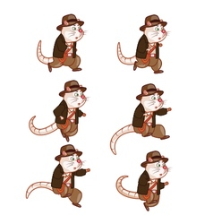 Adventurer Rat Jumping Sprite vector