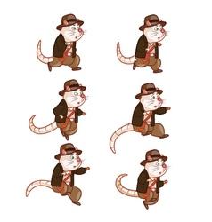 Adventurer rat jumping sprite vector