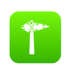 Ancient hammer icon digital green vector