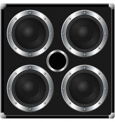 audio speakers vector image vector image